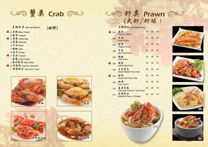 78KPT 2014 CNY Crab Prawn Menu by Phocept
