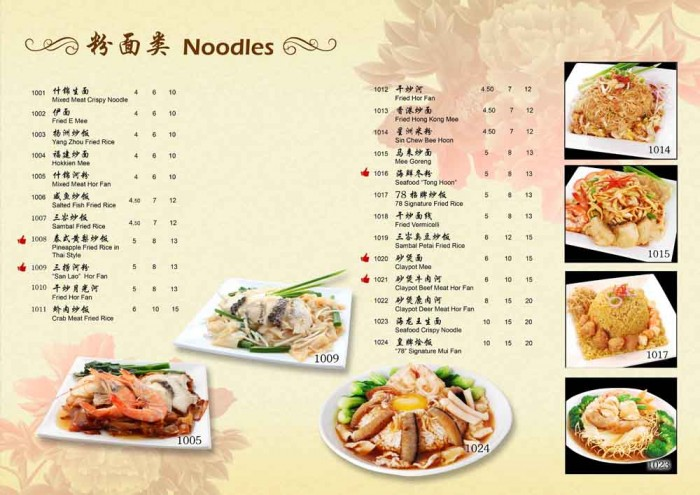 78KPT 2014 CNY Noodle Menu by Phocept