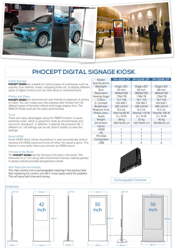 58 Digital Signage Kiosk Brochure by Phocept