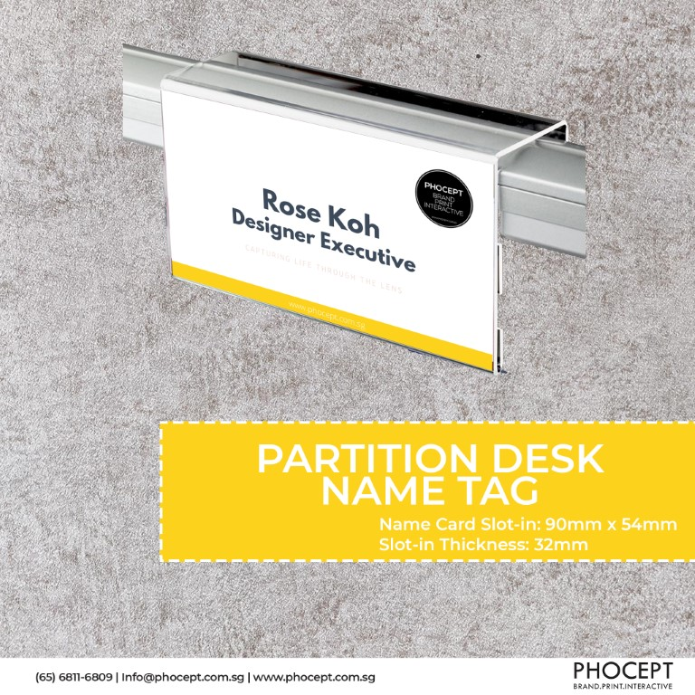 Partition Desk Name Tag by Phocept